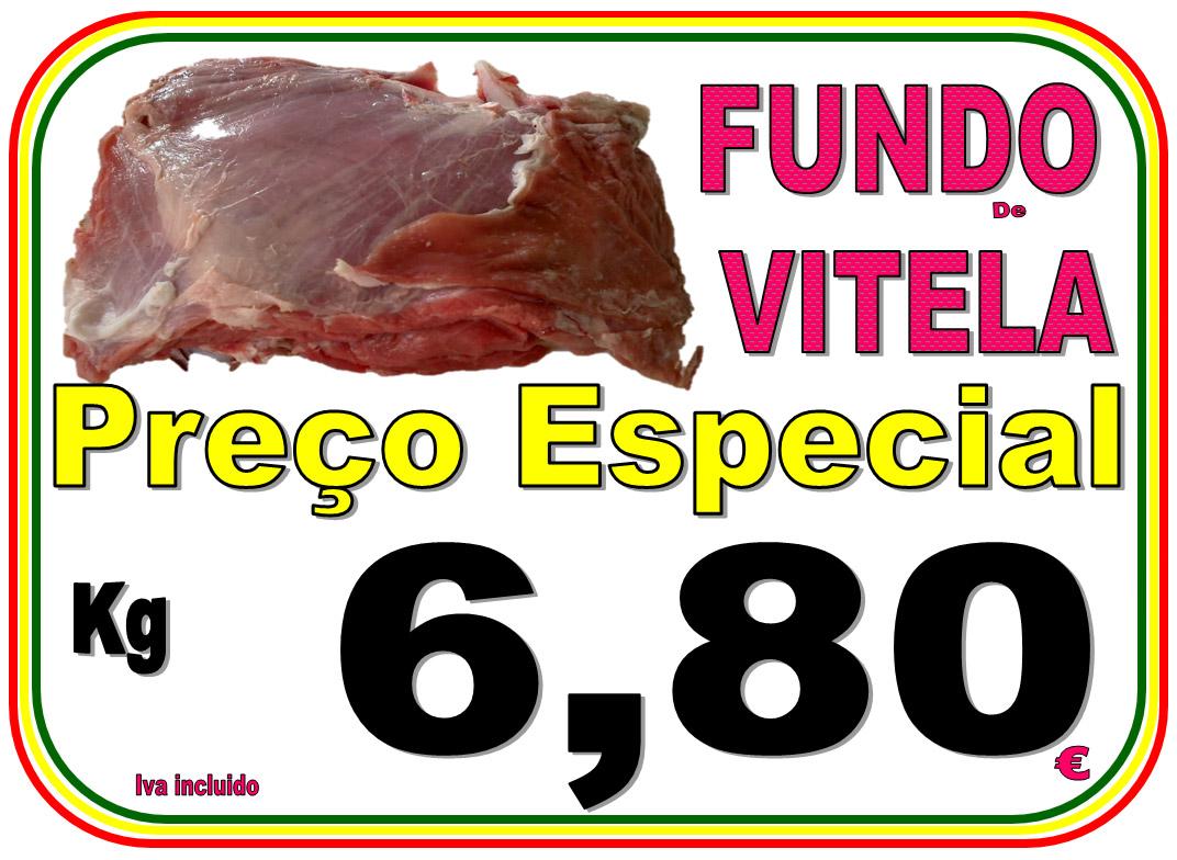 Carne de Fundo de Vitela, Preço Especial