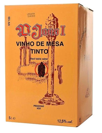 img-Vinho Tinto D. João I em Box de 5L
