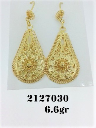 destaque Gold or Silver Filigree Earrings