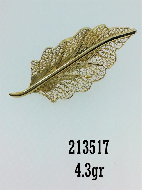 destaque Gold or Silver Filigree Pins