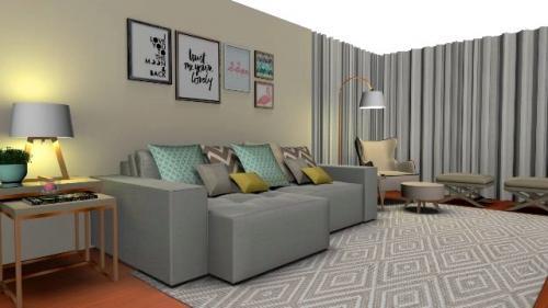 img-Decoração de sala de estar e de jantar