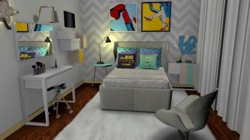 img-Decoração de quarto de adolescente estilo pop art