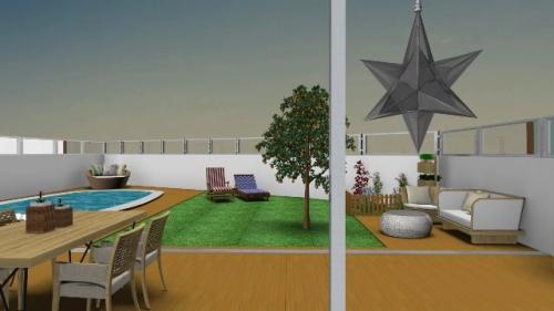 img-Decoração exterior de jardim com piscina