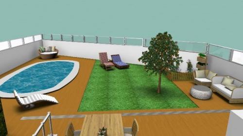 Decora o exterior de jardim com piscina 3decor for Sofa exterior jardim