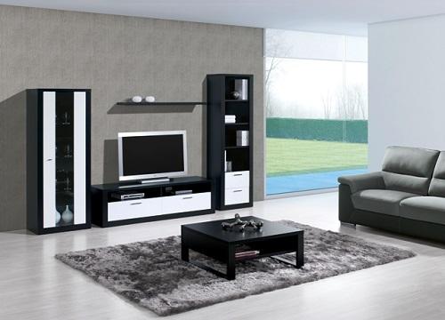 Sala estar bali preto branco m veis mourisca bases camas colch es sof s m veis quartos e - Armarios para sala de estar ...