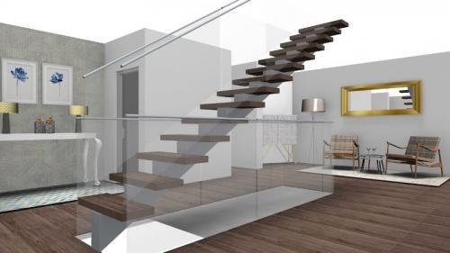 Decoraç u00e3o de hall de entrada com escadas interiores 3DECOR Decoraç u00e3o de habitações, empresas e  -> Decoração De Hall Com Escada