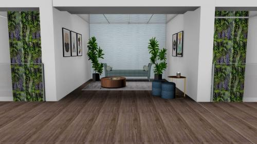 Decoraç u00e3o de hall de entrada com escadas interiores 3DECOR Decoraç u00e3o de habitações, empresas e  # Decoração De Hall Com Escada