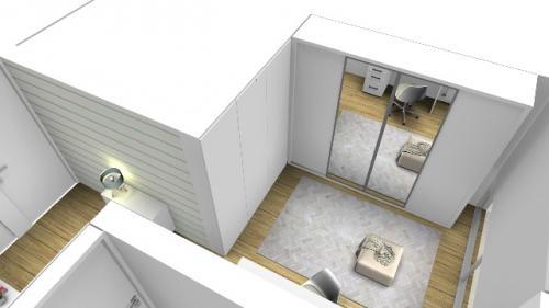 img-Decoração de um espaço para closet e escritório