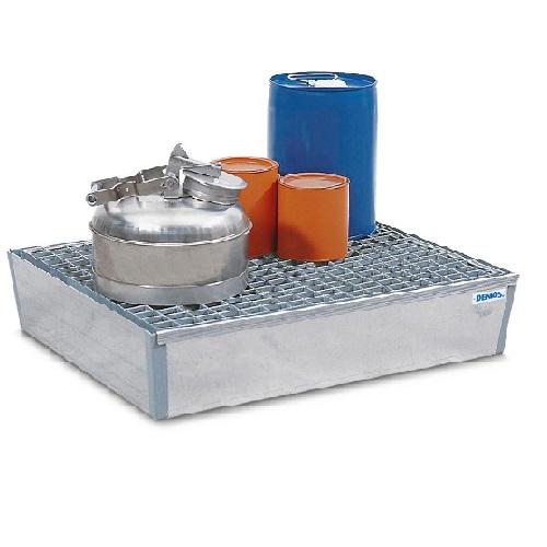 img-Bacia de retenção em aço galvanizado com grade galvanizada