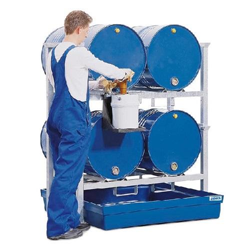img-Estantes para 4 bidões AWK de 200 litros