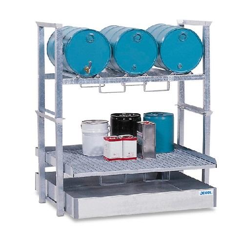img-Estante para 3 bidões de 60L e 4 recipientes pequenos AWS