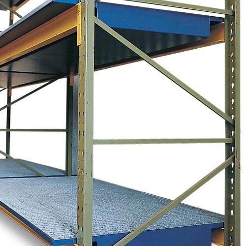 img-Bacia de estante em aço com grade galvanizada, largura 2700mm