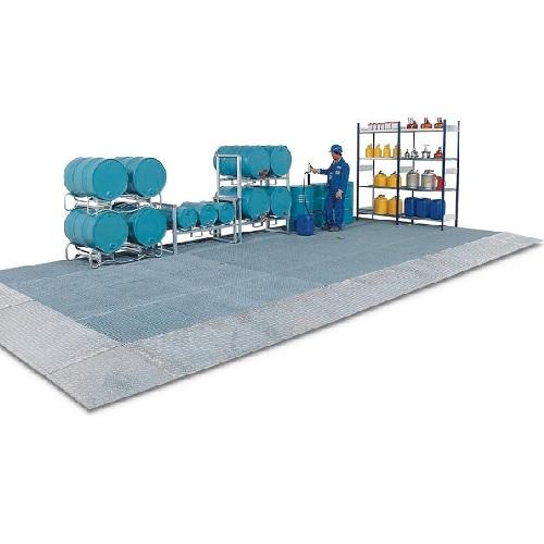 img-Pavimento de retenção em aço com grade, 2500 x 1000 x 125 mm