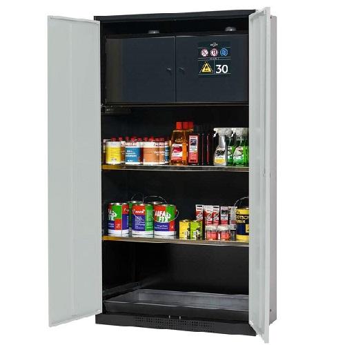 img-Armário para produtos químicos com estantes regulaveis