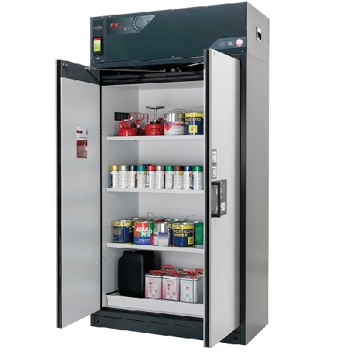 img-Armário de recirculação de ar para inflamáveis com 3 estantes