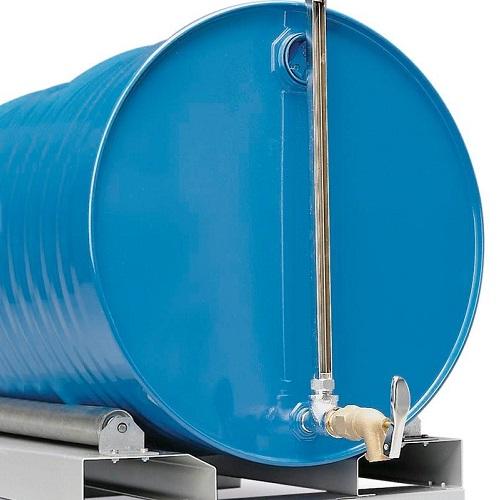 img-Indicador do nível de enchimento em aço cromado para bidões na horizontal