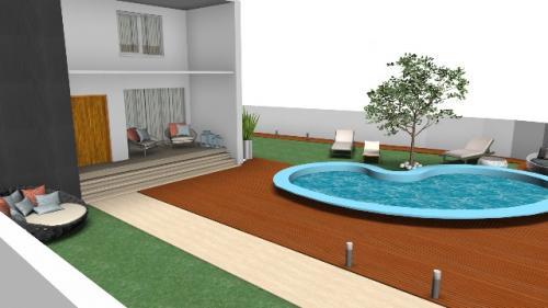 img-Decoração de moradia com jardim e piscina
