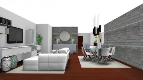 img-Decoração de sala de estar e de jantar moderna