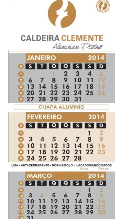 destaque Produção de Calendários de Parede, Bolso e Secretária no Grande Porto