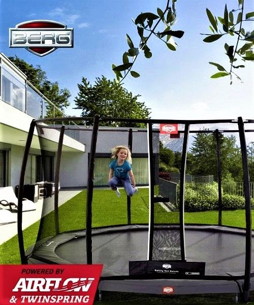 destaque BERG INGROUND ELITE GREY 430 TATTOO + SAFETY NET DELUXE