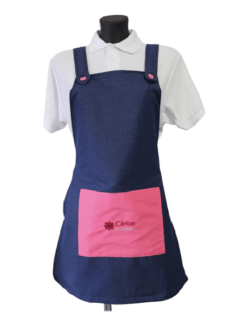 Women's Apron with pink pocket
