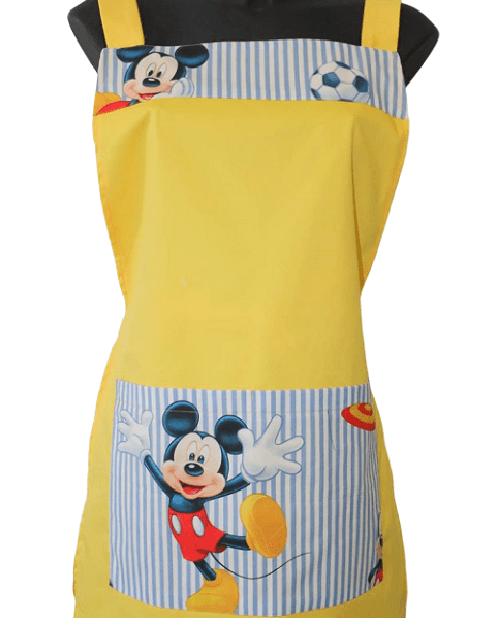 Women's double apron in yellow