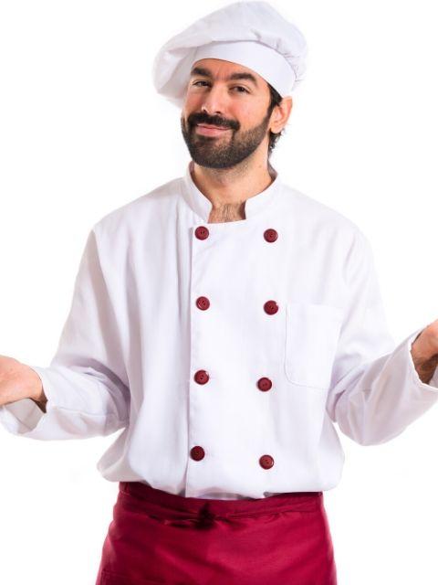 destaque Jaleca para cozinheiro