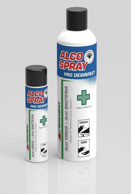 destaque Desinfectantes COVID-19 - ALCO SPRAY