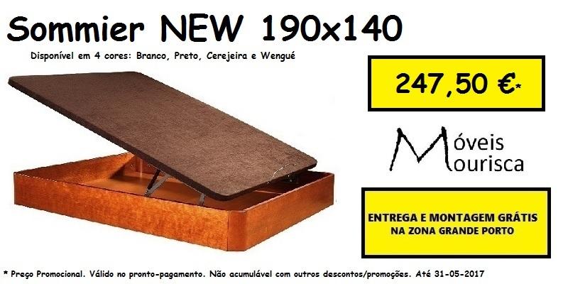 Sommier (cama) articulado New Lusocolchão 190 X 140 super preço 247,50€